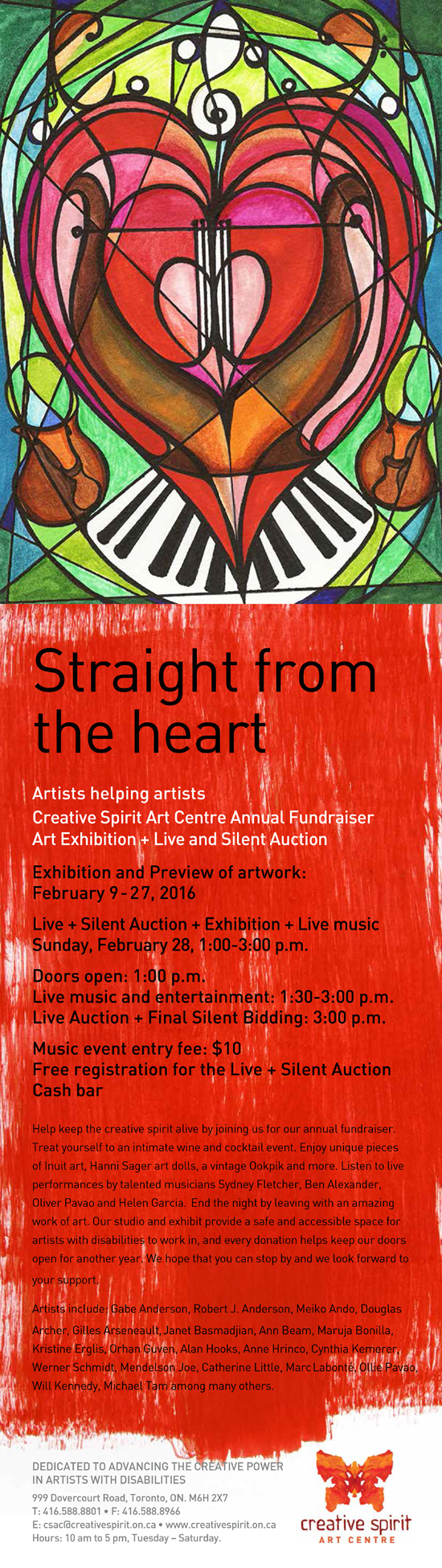 Straight from the Heart 2016 - Annual CSAC fundraiser