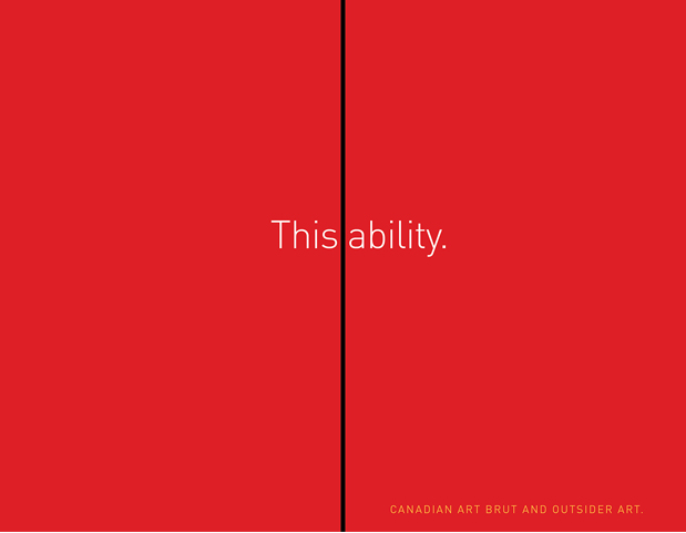image of red cover of book with a black line in the middle of the book from top to bottom separating the title This|ability