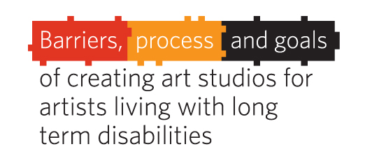 "the Words Barriers, process and goals on ""puzzle"" pieces, then the rest of the heading ...of creating art studios..."
