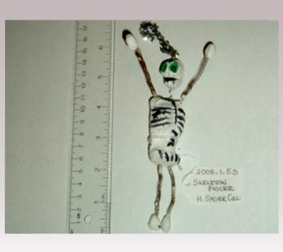 Hanni Sager, Skeleton Figurine (green eyes)