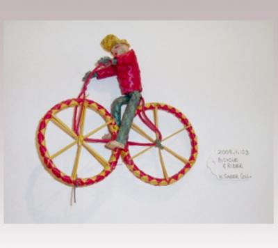 Hanni Sager, Toy, Rider on Bicycle